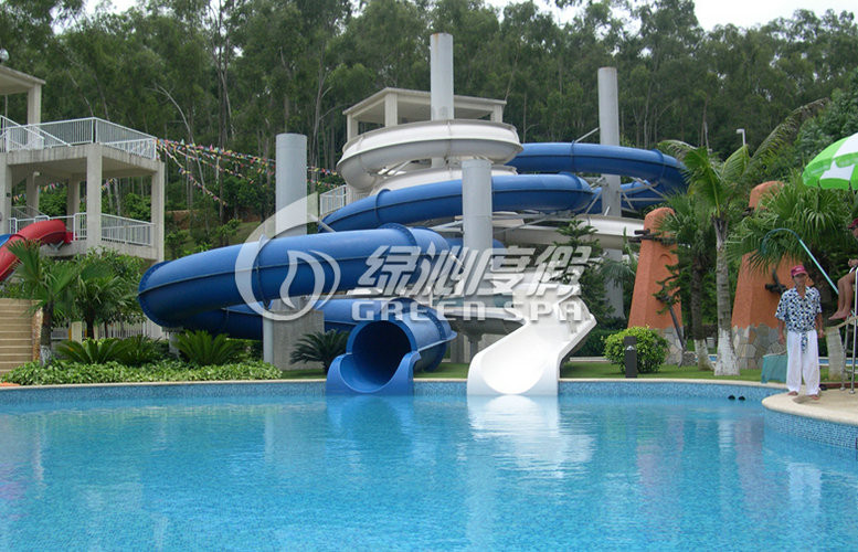 Large Outdoor Commercial Grade Fiberglass Water Slides Swimming Pool for Kids and Adults
