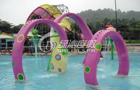 Aquasplash Water Park Arch Doors Spray for Children Theme Park Play Equipment