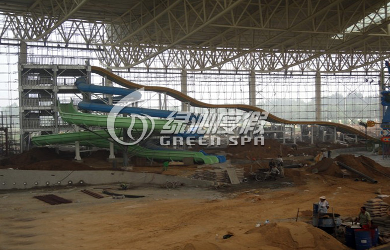 Durable Giant Water Park Construction , Customized Water Slide Construction for Outdoor
